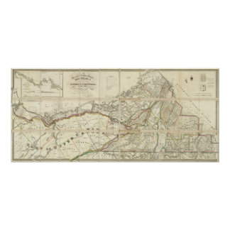 Map of the District of Montreal, Lower Canada Poster