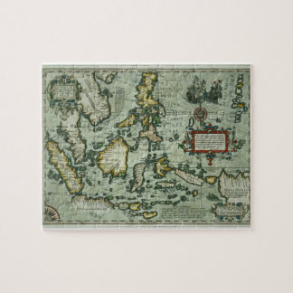 Map of the East Indies, pub. 1635 in Amsterdam (ha Jigsaw Puzzle