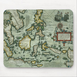 Map of the East Indies, pub. 1635 in Amsterdam (ha Mouse Mat