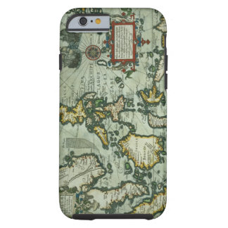 Map of the East Indies, pub. 1635 in Amsterdam (ha Tough iPhone 6 Case