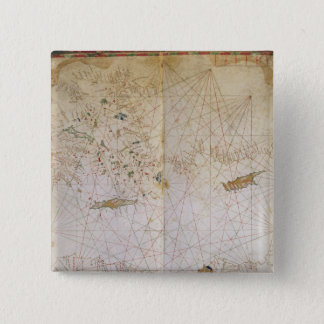 Map of the Eastern Mediterranean 15 Cm Square Badge