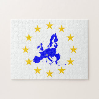 Map of the European union with star circle Jigsaw Puzzle