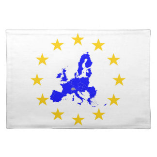Map of the European union with star circle Placemat