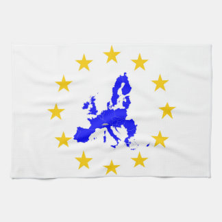 Map of the European union with star circle Tea Towel