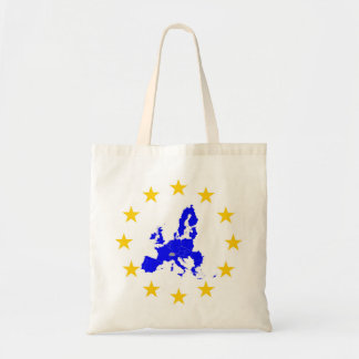 Map of the European union with star circle Tote Bag
