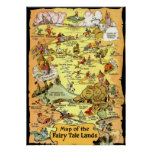 Map of the Fairy Tale Lands (in 23 sizes) Poster