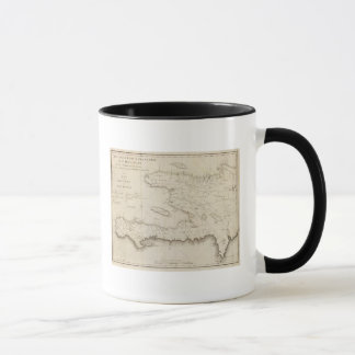 Map Of the French Part Of St Domingo Mug