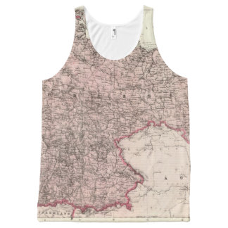 Map of the German Empire All-Over Print Tank Top