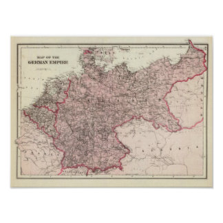 Map of the German Empire Poster