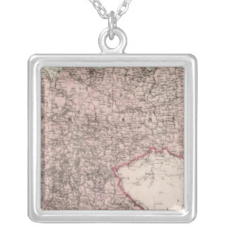 Map of the German Empire Silver Plated Necklace