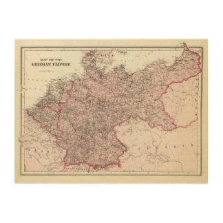 Map of the German Empire Wood Print
