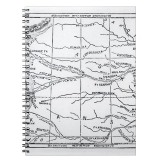 Map of the Gold Region, published in 'The Weekly' Notebooks