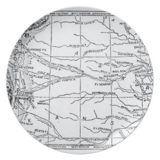 Map of the Gold Region, published in 'The Weekly' Plate
