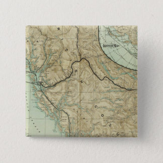 Map Of The Grand Trunk Pacific Railway 15 Cm Square Badge