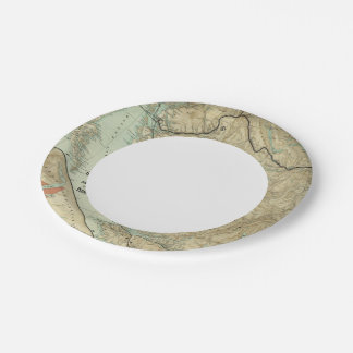 Map Of The Grand Trunk Pacific Railway 7 Inch Paper Plate