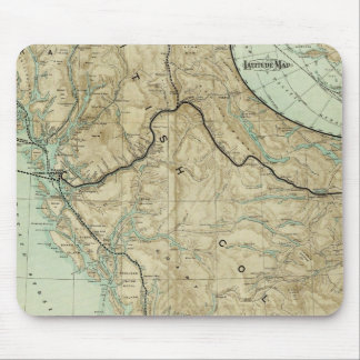 Map Of The Grand Trunk Pacific Railway Mouse Mat