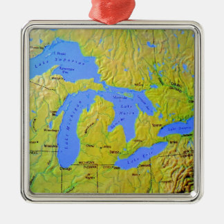Map of The Great Lakes Design Christmas Ornament