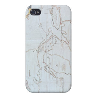 Map of the Great Lakes iPhone 4/4S Cover