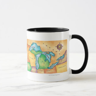 Map of the Great Lakes Mug
