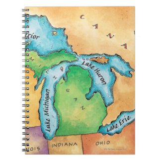 Map of the Great Lakes Notebook
