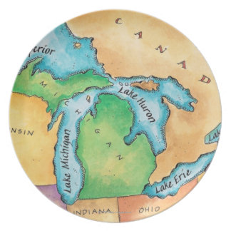 Map of the Great Lakes Plate