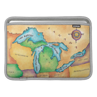Map of the Great Lakes Sleeve For MacBook Air