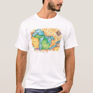 Map of the Great Lakes T-Shirt
