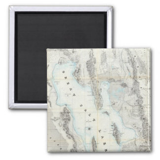 Map of the Great Salt Lake Square Magnet