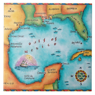 Map of the Gulf of Mexico Tile