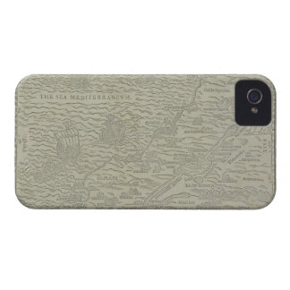Map of the Holy Land iPhone 4 Cover