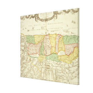 Map of the Holy Land, pub. by Jan Barend Elwe, Ams Canvas Print