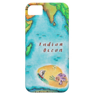 Map of the Indian Ocean Barely There iPhone 5 Case
