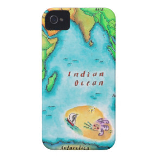 Map of the Indian Ocean iPhone 4 Cover