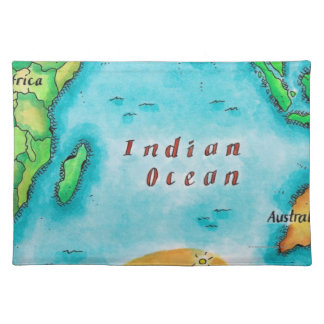 Map of the Indian Ocean Placemat