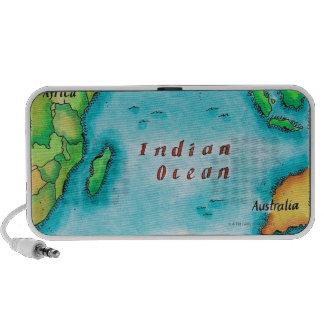 Map of the Indian Ocean Notebook Speaker