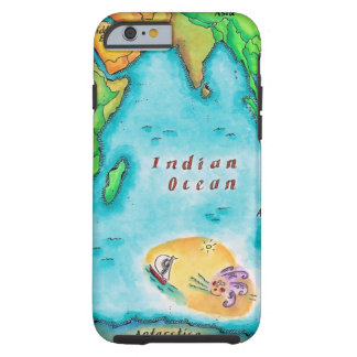 Map of the Indian Ocean Tough iPhone 6 Case