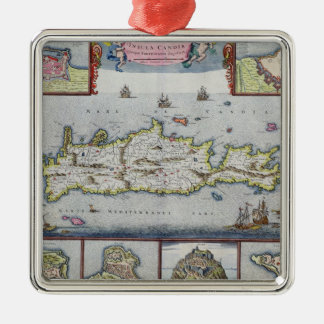 Map of the Island of Candia Christmas Ornament