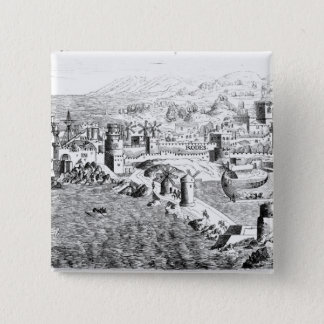 Map of the Island of Rhodes 15 Cm Square Badge