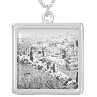 Map of the Island of Rhodes Silver Plated Necklace