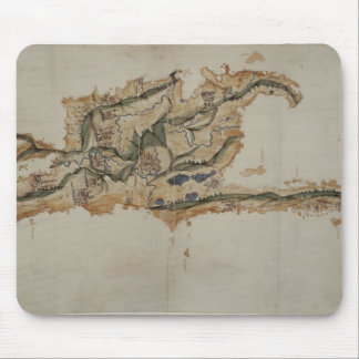 Map of the island of Santo Domingo Mouse Mat