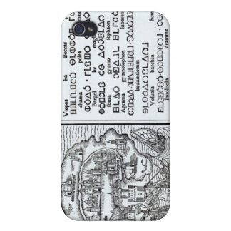 Map of the Island of Utopia and its Alphabet iPhone 4 Cases
