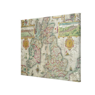 Map of the Kingdom of Great Britain and Ireland Canvas Print