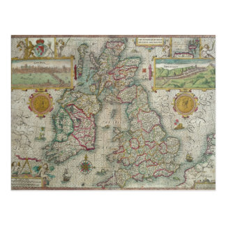 Map of the Kingdom of Great Britain and Ireland Postcard