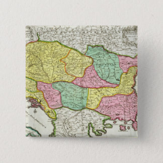 Map of the Kingdom of Hungary and the States which 15 Cm Square Badge