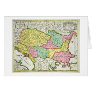Map of the Kingdom of Hungary and the States which Card