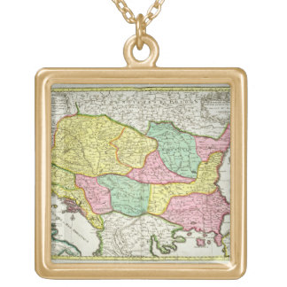 Map of the Kingdom of Hungary and the States which Gold Plated Necklace