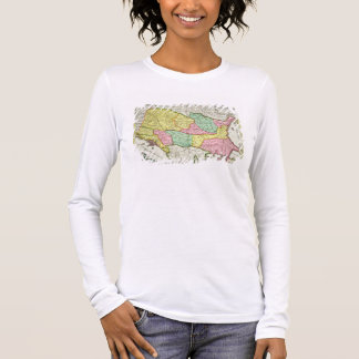 Map of the Kingdom of Hungary and the States which Long Sleeve T-Shirt