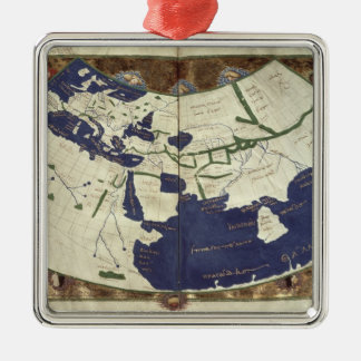 Map of the known world, from 'Geographia' Christmas Ornament