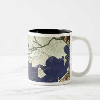 Map of the known world, from 'Geographia' Two-Tone Coffee Mug