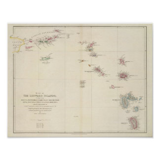 Map of The Leeward Islands Poster